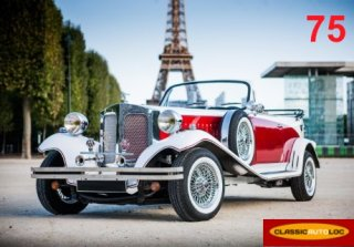 Beauford Tourer 1970 Blanc/rouge