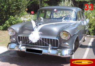 CHEVROLET BEL AIR 1955 silver