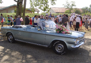 Chevrolet Corvair 1963 Gris metal