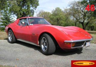 Chevrolet Corvette 1972 Rouge