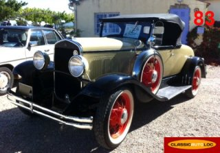 Chrysler 6 Roadster 1930 Beige/Noir