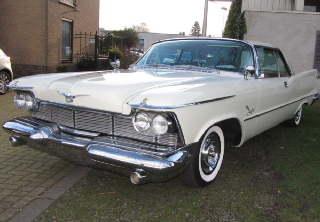 Chrysler Imperial 1958 Blanc