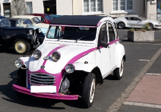 Citroën 2CV4 1977 BLANC/ROSE