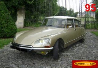 Citroën DS Pallas 1970 Sable toit Blanc
