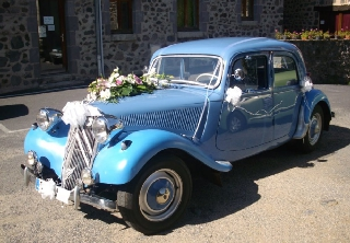 Citroën traction 1955 bleu azur