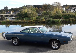 Dodge Charger RT 1969 Bleu blanc