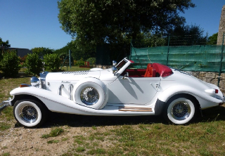 Excalibur ROADSTER série IV 1983 Blanche