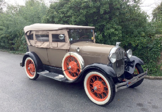Ford A 1928 Bronson Yellow