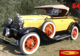 FORD A ROADSTER 1930 JAUNE