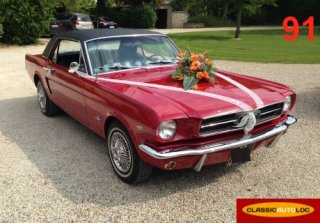 Ford Mustang 1965 Rouge et noir