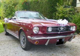 Ford Mustang 1966 Bordeaux
