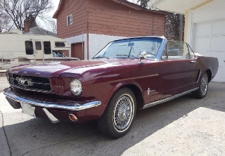 Ford Mustang 1966 Burgundy