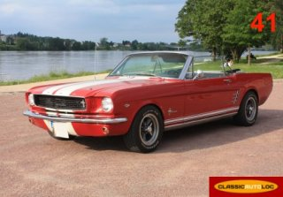 Ford Mustang 1966 Rouge