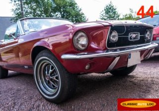 Ford MUSTANG 1967 ROUGE