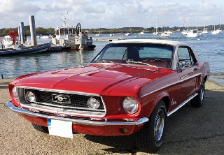 Ford Mustang 1968 Candyapple Red