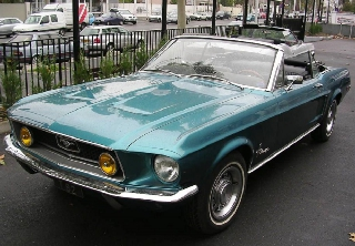 Ford Mustang 1968 Turquoise