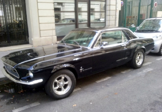 Ford MUSTANG 67 1967 noire