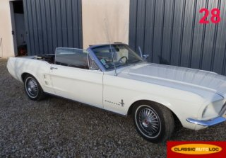 Ford Mustang Cabriolet 1967 Blanc