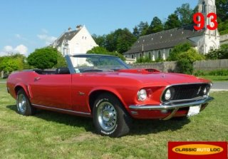 Ford Mustang GT Cabriolet 1969 Rouge