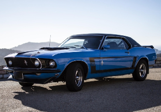 Ford Mustang  Boss 302  1969 Bleue/Noire