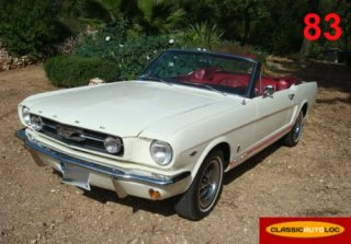 Ford MUSTANG GT 1966 BLANCHE