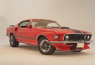 Ford Mustang Mach1 1969 Rouge