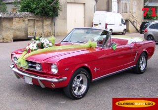 FORD USA MUSTANG 1965 ROUGE