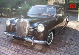 Mercedes Benz 190D  Ponton  1954 Marron