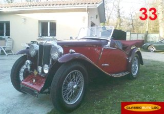MG Magnette NB 1936 Rouge