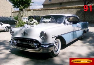 Oldsmobile Holiday 1955 Bleu/Blanc