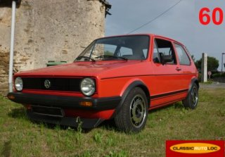 Volkswagen Golf 1 Rabbit 1983 Rouge
