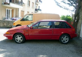 Volvo 480 Turbo 1992 Rouge